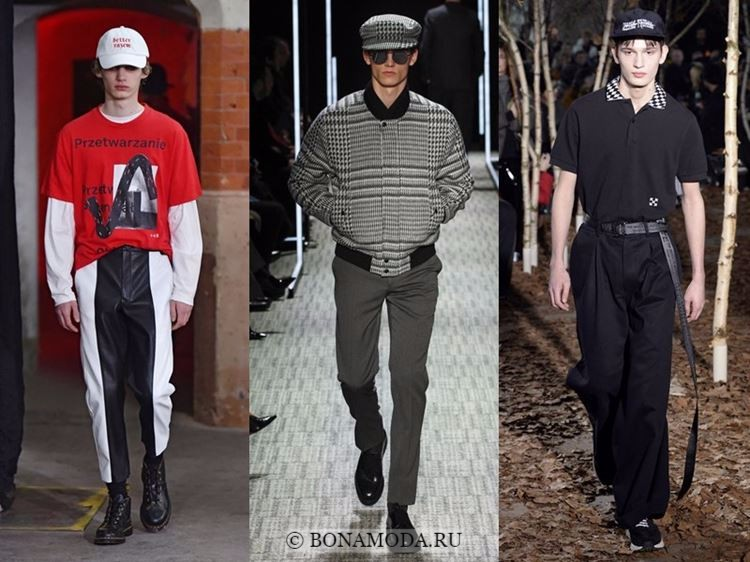 Мужская мода осень-зима 2017-2018: кепки и фуражки