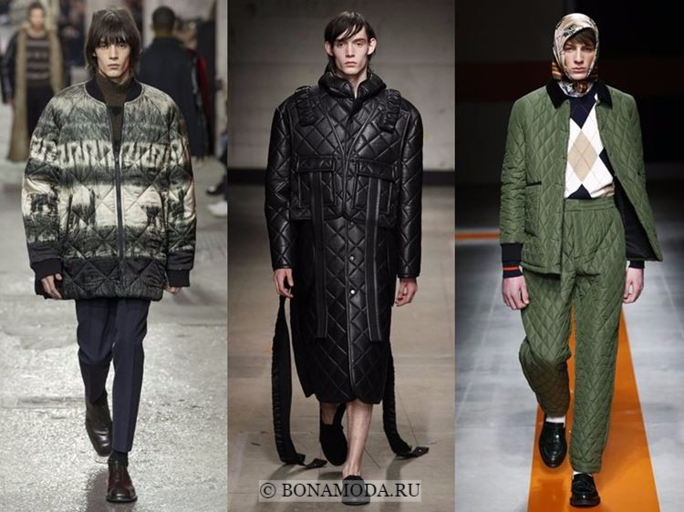 Мужская мода осень-зима 2017-2018: стёганая одежда