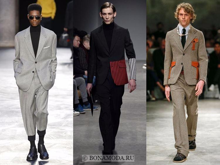 Мужская мода осень-зима 2017-2018: современные деловые костюмы