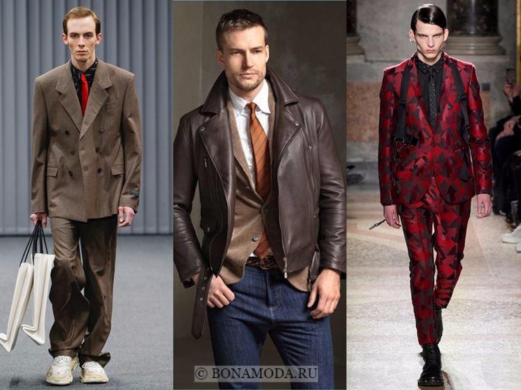 Dolce Gabbana, Gucci, Emporio Armani Мужская мода осень-зима 2017-2018   костюмы с галстуком 1361656dff8