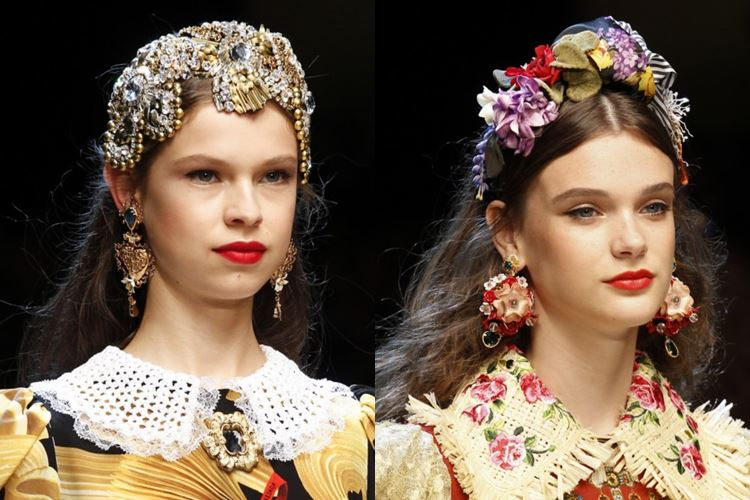 Dolce&Gabbana весна-лето 2017 - короны в славянском стиле