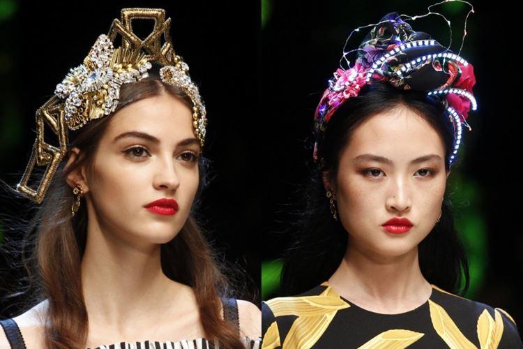 Dolce&Gabbana весна-лето 2017 - украшения для головы в русском стиле