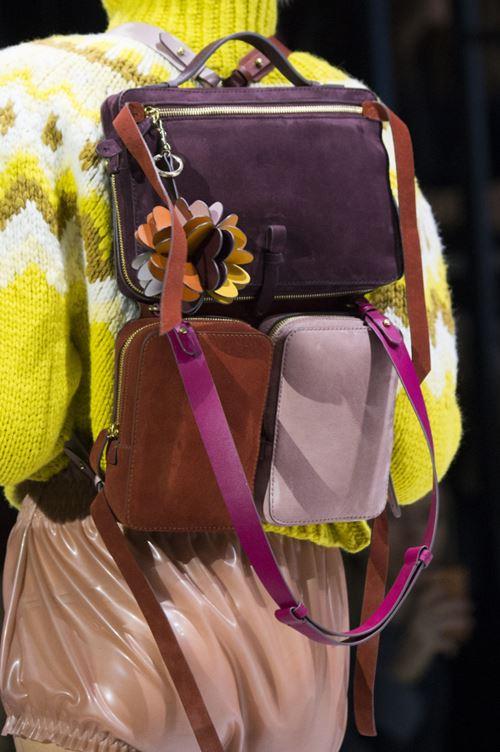 Сумки Anya Hindmarch осень-зима 2017-2018 - комбинированный рюкзак из замши
