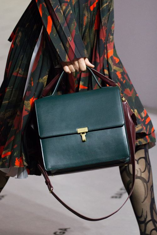 Сумки Balenciaga осень-зима 2017-2018 - зеленый кожаный портфель