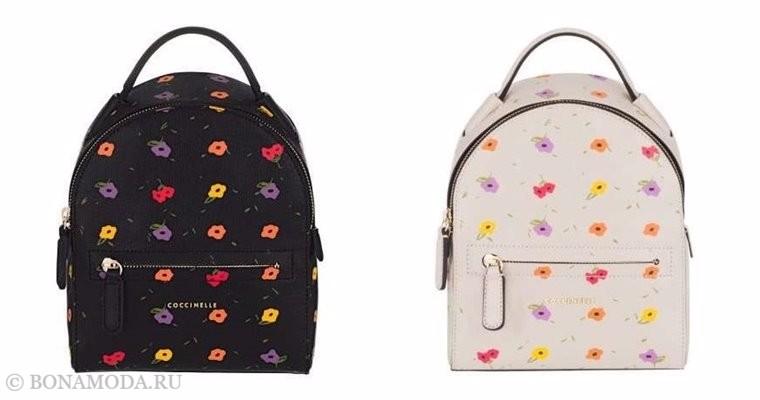 Сумки Coccinelle осень-зима 2017-2018: рюкзаки с цветочным принтом