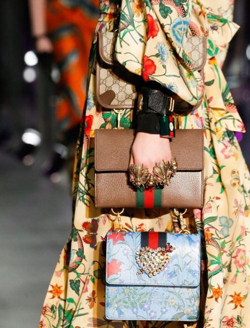 Сумки Gucci осень-зима 2017-2018: три сумки через плечо