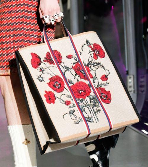 Сумки Gucci осень-зима 2017-2018: шоппер с цветочным принтом