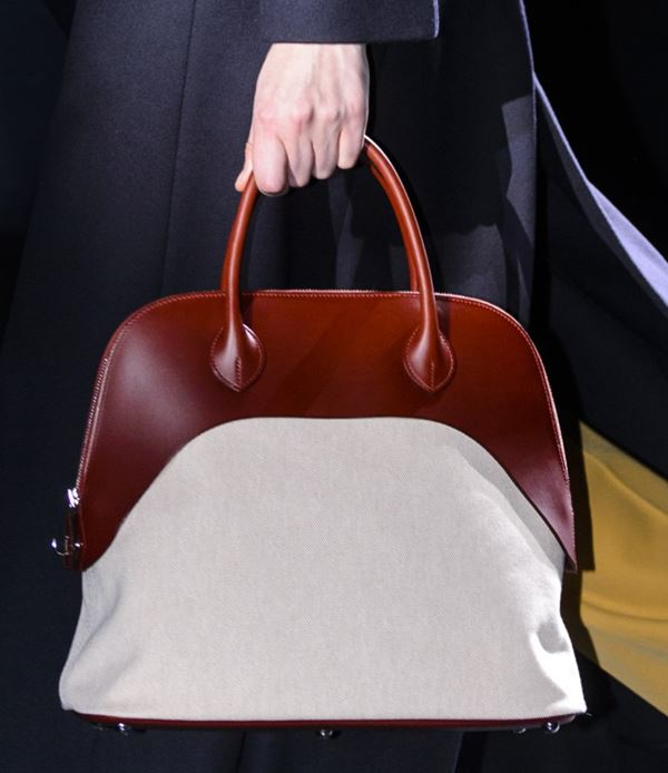 Сумки Hermès осень-зима 2017-2018: темно-рыжая и светлая bolide bag