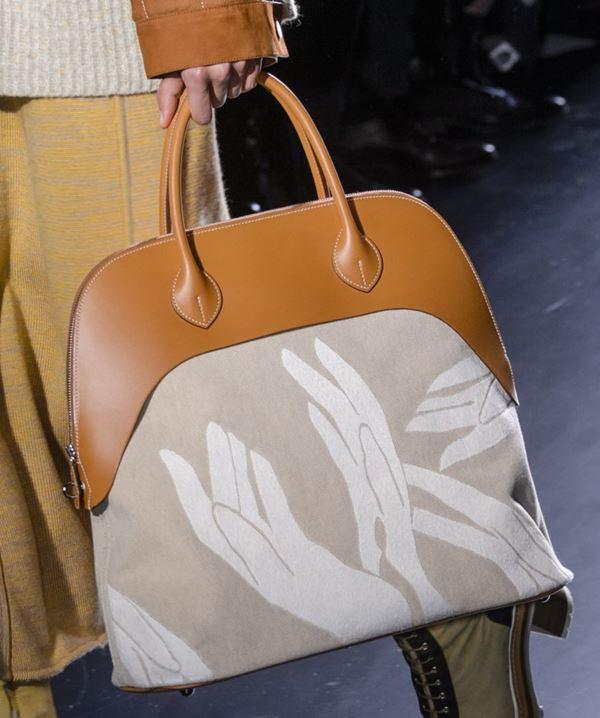 Сумки Hermès осень-зима 2017-2018: оранжевая с принтом