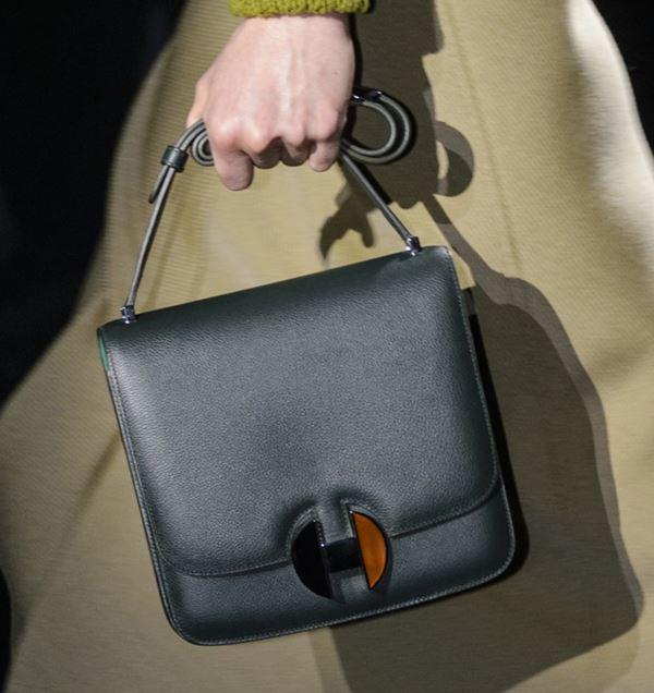 Сумки Hermès осень-зима 2017-2018: темно-зеленая гладкая кожаная