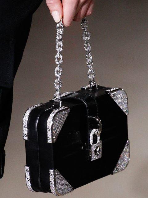 Сумки Louis Vuitton осень-зима 2017-2018: маленькая вечерняя черная с серебром