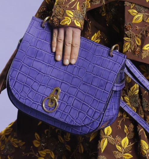 Сумки Mulberry осень-зима 2017-2018: фиолетовая крокодиловая кожа