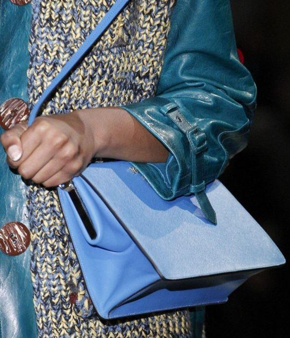 Сумки Prada осень-зима 2017-2018: голубая жесткая через плечо