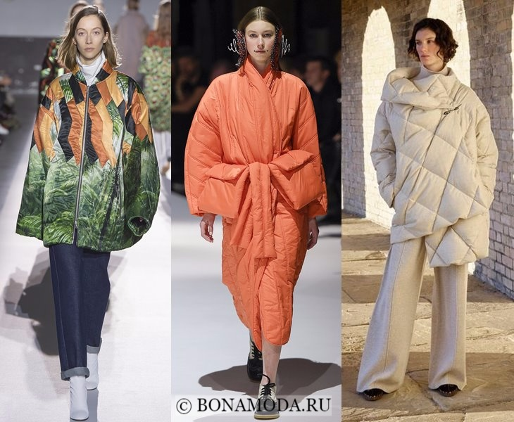 Верхняя одежда осень-зима 2017-2018: пальто стеганые одеяла