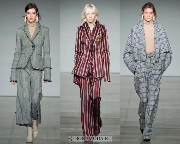 Женские брючные костюмы осень-зима 2017-2018: Zimmermann - клетчатые и полосатые