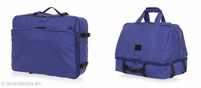 Коллекция сумок Mandarina Duck осень-зима 2017-2018: синие дорожные