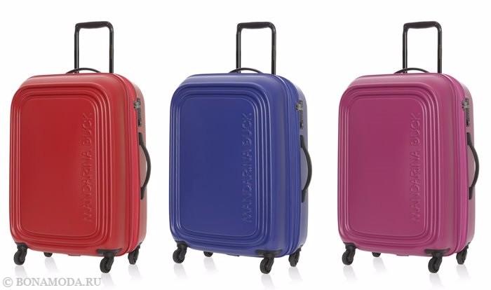 Коллекция сумок Mandarina Duck осень-зима 2017-2018: яркие чемоданы на колесиках