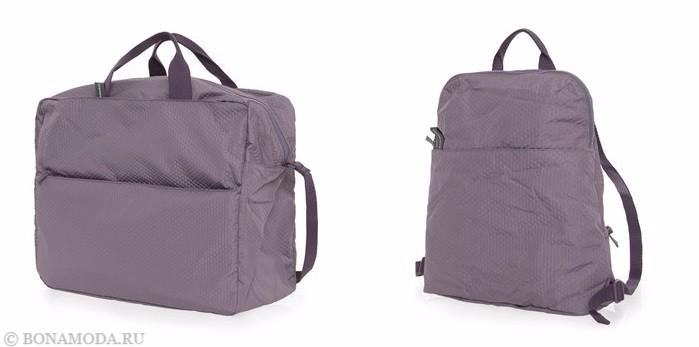 Коллекция сумок Mandarina Duck осень-зима 2017-2018: лиловые дорожные