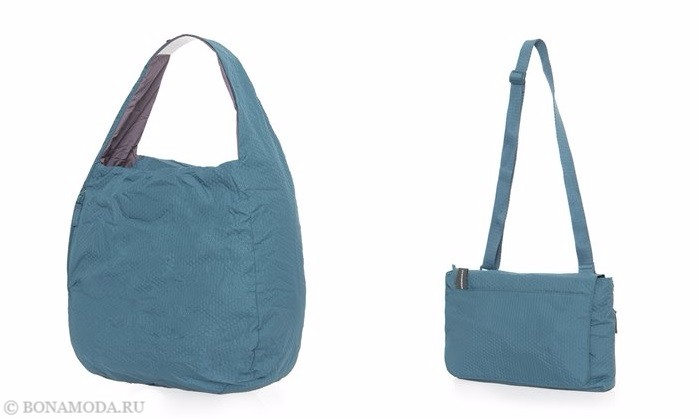 Коллекция сумок Mandarina Duck осень-зима 2017-2018: бирюзовые текстильные хобо и через плечо
