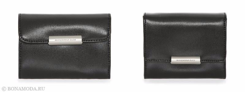 Коллекция сумок Mandarina Duck осень-зима 2017-2018: черные кожаные клатчи