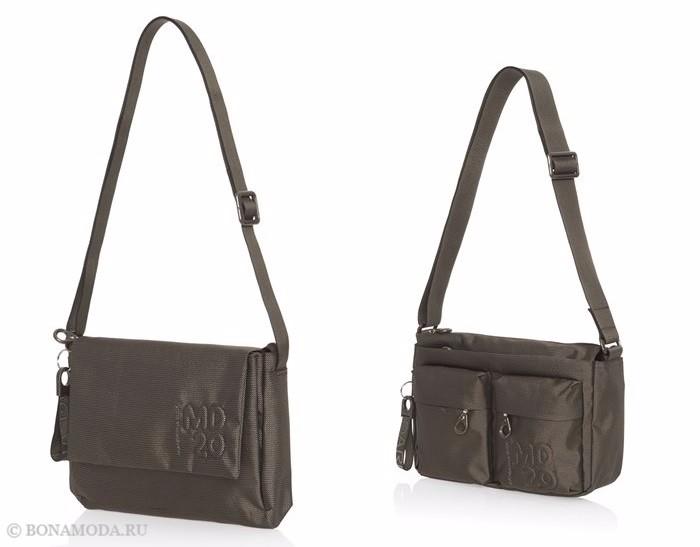 Коллекция сумок Mandarina Duck осень-зима 2017-2018: зеленые хаки через плечо
