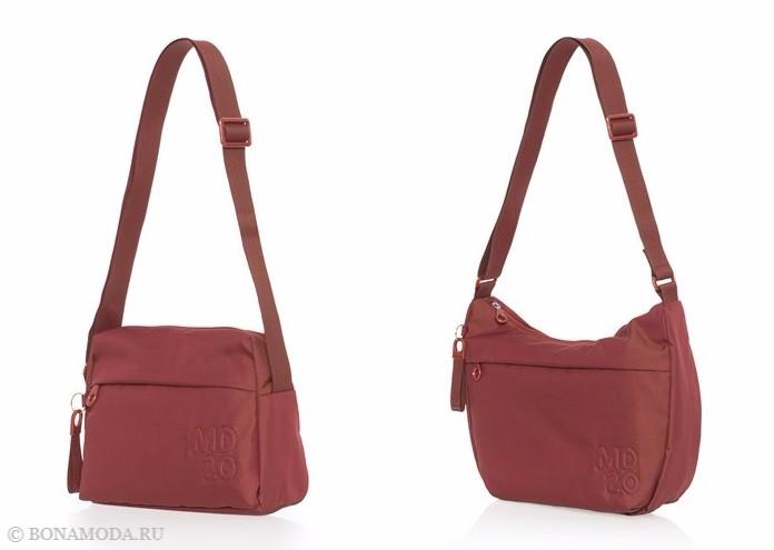 Коллекция сумок Mandarina Duck осень-зима 2017-2018: красно-оранжевые через плечо