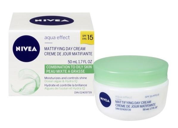 Кремы для жирной кожи: дневной крем с матирующим эффектом Nivea Visage Aqua Effect