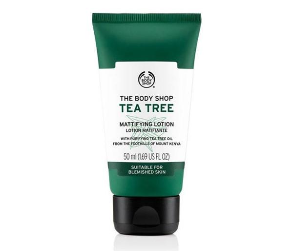 Кремы для жирной кожи: The Body Shop Tea Tree матирующий лосьон с экстрактом чайного дерева