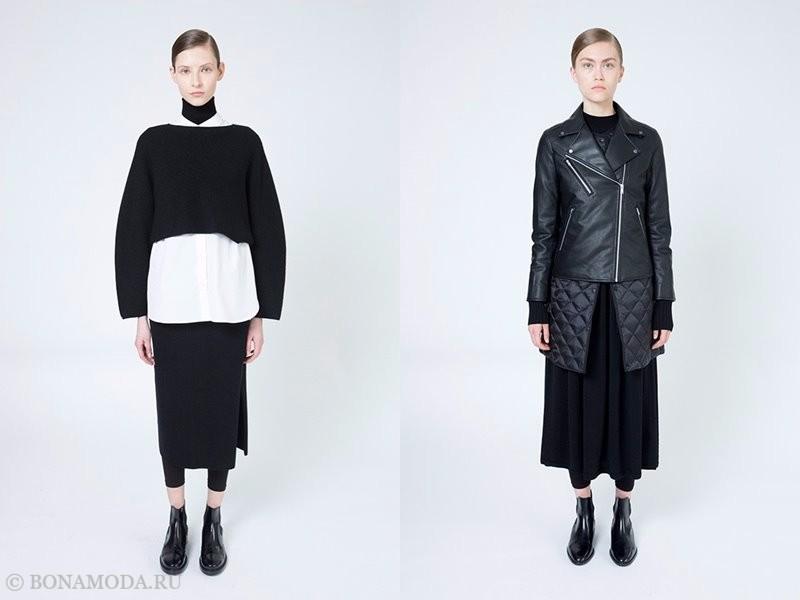 Лукбук женской коллекции Uniqlo осень-зима 2017-2018 - многослойность и черный цвет