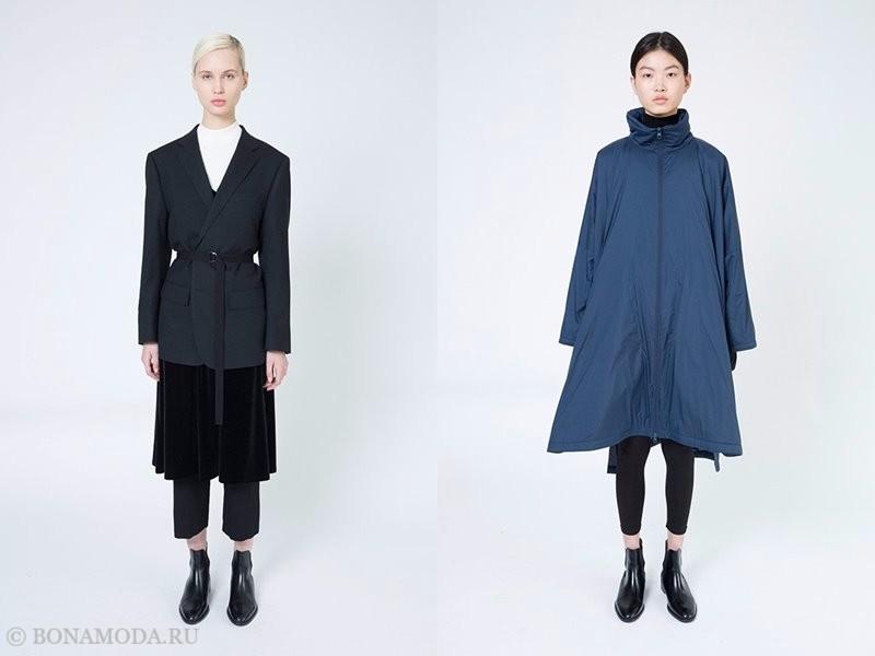 Лукбук женской коллекции Uniqlo осень-зима 2017-2018 - короткие брюки, жакет и плащ