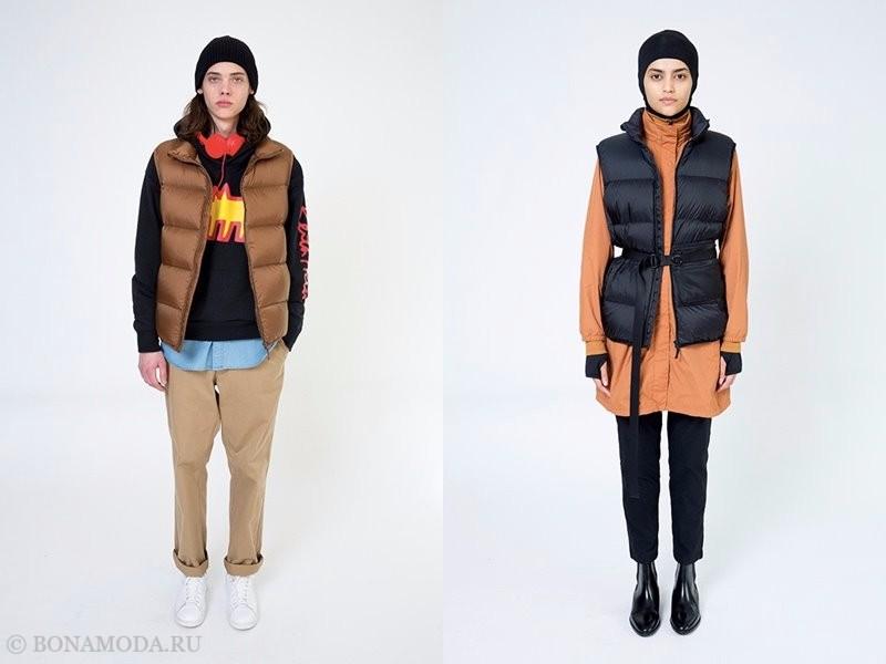 Лукбук женской коллекции Uniqlo осень-зима 2017-2018 - короткие брюки и дутый жилет
