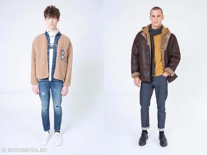 Лукбук мужской коллекции Uniqlo осень-зима 2017-2018 - куртки с искусственным мехом