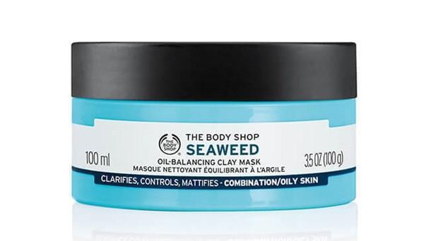 Маски для жирной проблемной кожи: Глиняная маска The Body Shop с морскими водорослями