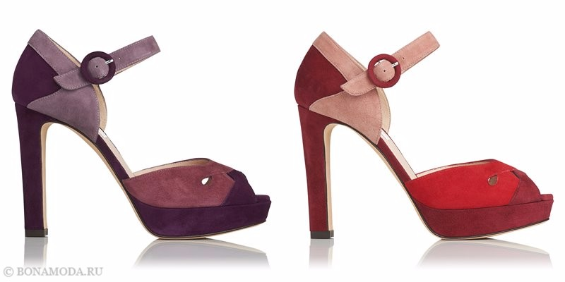 Модные босоножки коллекции L.K. Bennett лето-2017: замшевые колор блок на высоком каблуке