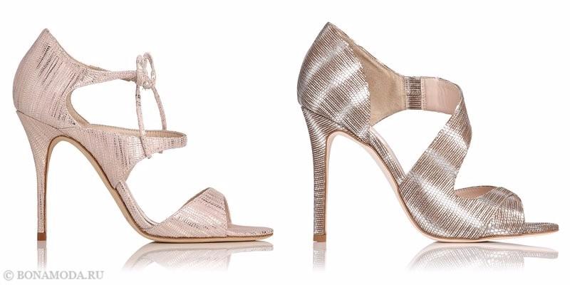 Модные босоножки коллекции L.K. Bennett лето-2017: блестящие вечерние на высоком каблуке