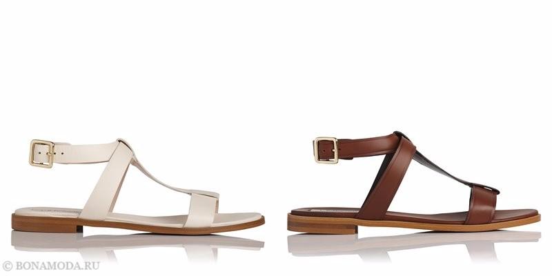 Модные босоножки коллекции L.K. Bennett лето-2017: плоские кожаные