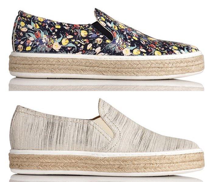 Модные эспадрильи L.K. Bennett лето-2017 - плоские тапочки слипоны