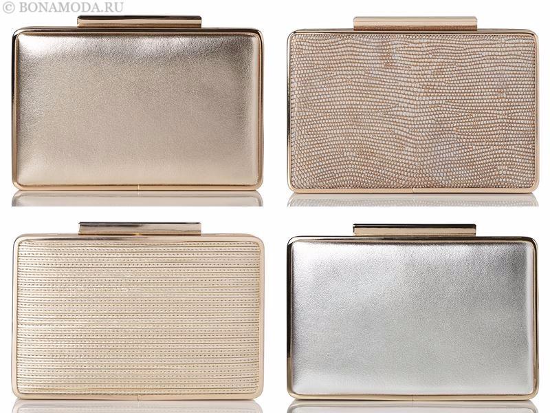 Модные клатчи L.K. Bennett лето-2017: металлические золотые и серебряные
