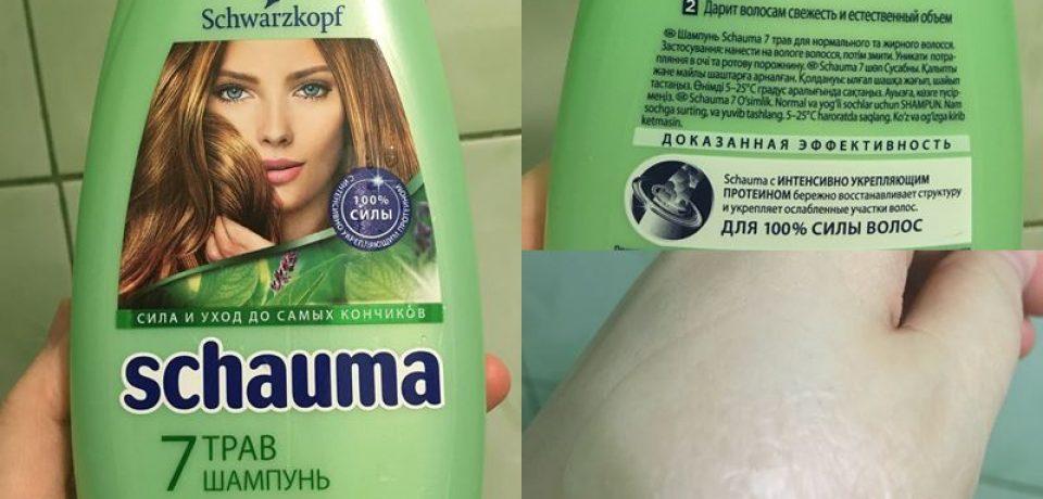 Отзыв: шампунь для жирных волос Schauma «7 трав»