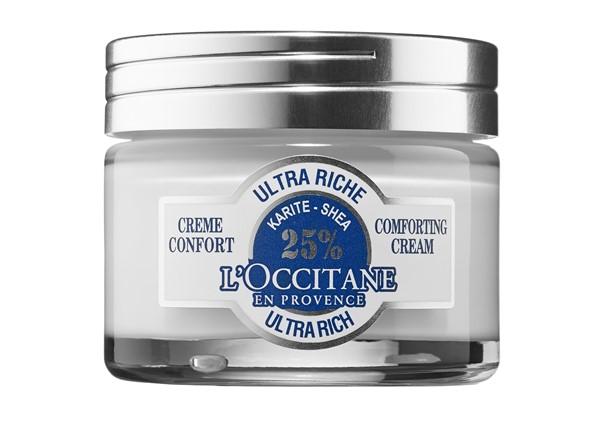 Питательные кремы для сухой кожи: Густой крем с маслом карите L'Occitane