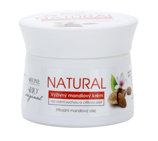 Питательные кремы для сухой кожи: Крем с миндальным маслом Bione Cosmetics
