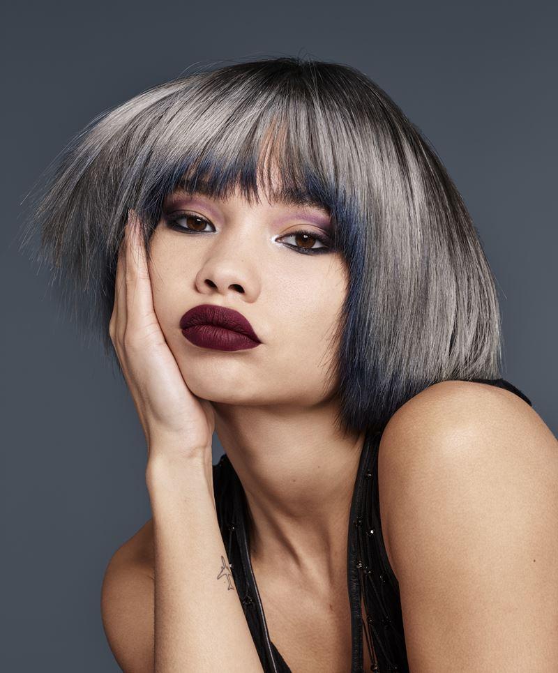 Smokey Ombré Redken осень-зима 2017-2018 - короткие волосы каре с серым окрашиванием