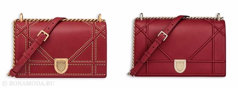 Сумки Christian Dior осень-зима 2017-2018: красные кожаные через плечо