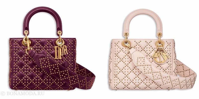 Сумки Christian Dior осень-зима 2017-2018: розовые стеганые