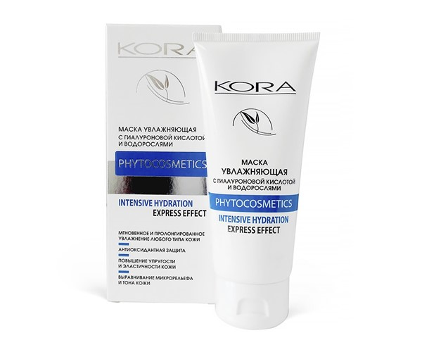 Увлажняющие маски для сухой кожи: Маска «КОРА» с гиалуроновой кислотой