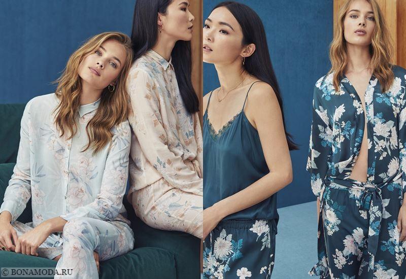 Лукбук Women'secret осень-зима 2017-2018: цветочные пижамы