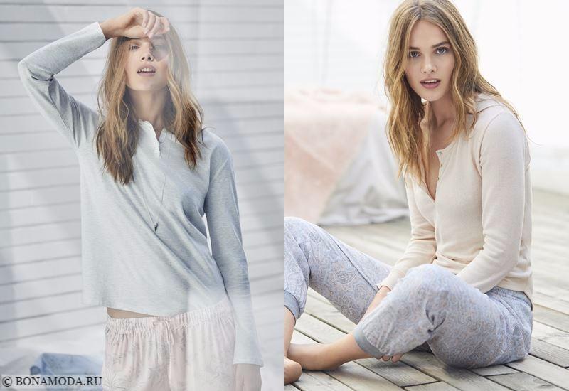 Лукбук Women'secret осень-зима 2017-2018: домашняя одежда