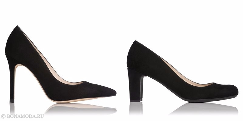 Замшевые туфли коллекции L.K. Bennett лето-2017 - классические черные лодочки на каблуке