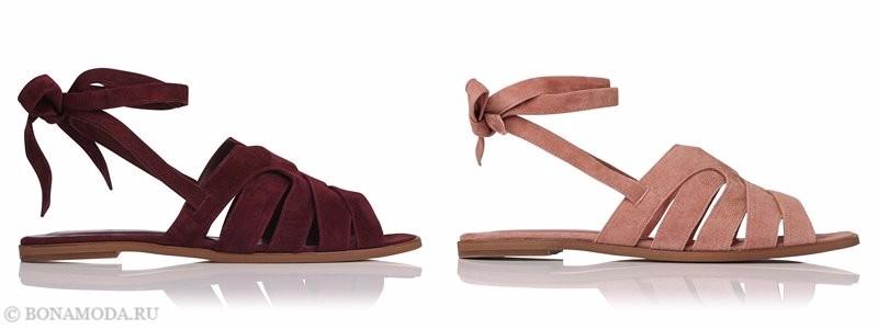 Замшевые туфли коллекции L.K. Bennett лето-2017 - бордовые и пудрово-розовые шлепанцы мюли