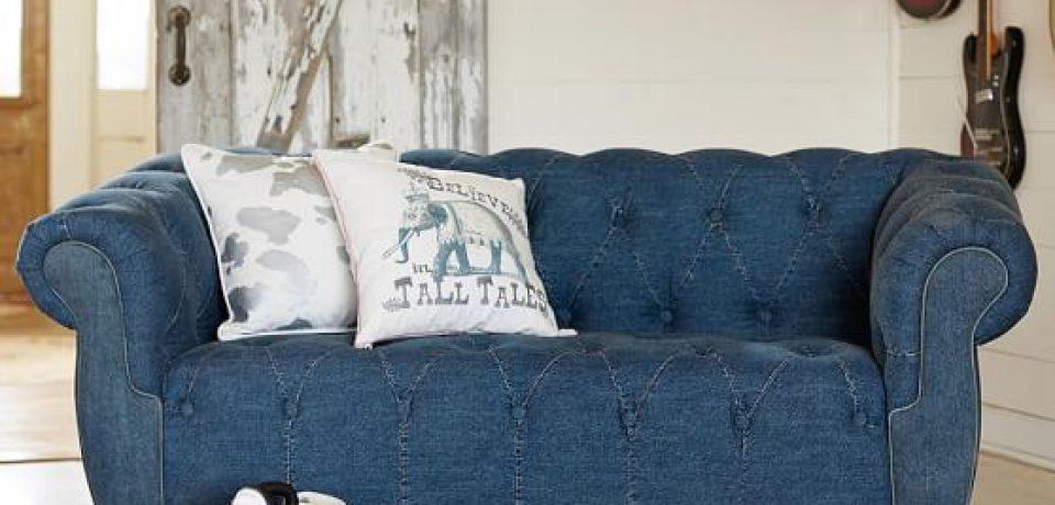 Джинсовый диван: необычный кэжуал для вашего интерьера